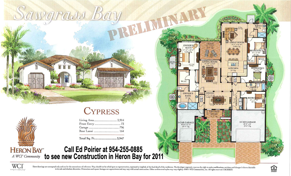 Heron bay new construction cypress model floor plan and for House construction cost bay area